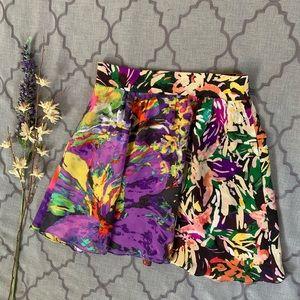 Flowy Floral Silk Carrizo Maeve Skirt